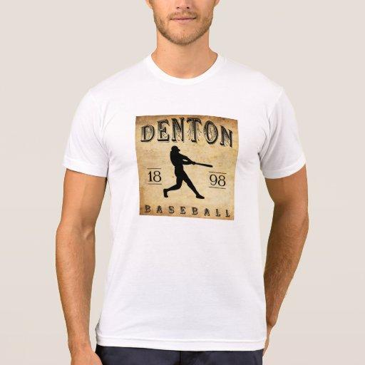 Béisbol 1898 de Denton Tejas Tee Shirts