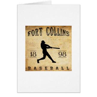 Béisbol 1898 de Fort Collins Colorado Tarjeta Pequeña
