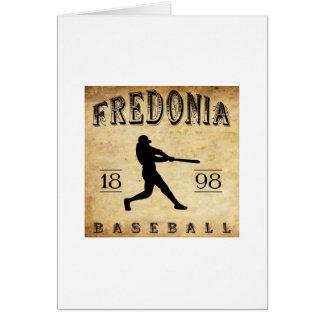 Béisbol 1898 de Fredonia Nueva York Tarjeta Pequeña