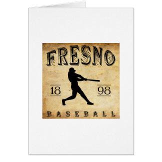 Béisbol 1898 de Fresno California Tarjeta Pequeña