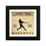 Béisbol 1898 de Glenwood Springs Colorado Caja De Regalo