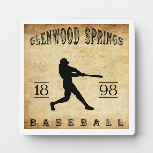 Béisbol 1898 de Glenwood Springs Colorado Placas De Plastico