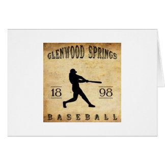 Béisbol 1898 de Glenwood Springs Colorado Tarjeta Pequeña