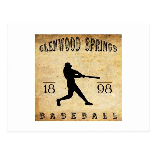 Béisbol 1898 de Glenwood Springs Colorado Tarjetas Postales