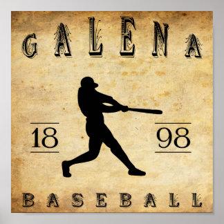 Béisbol 1898 de Kansas de la galena Poster