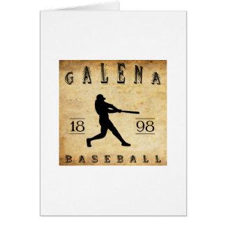 Béisbol 1898 de Kansas de la galena Tarjeta Pequeña