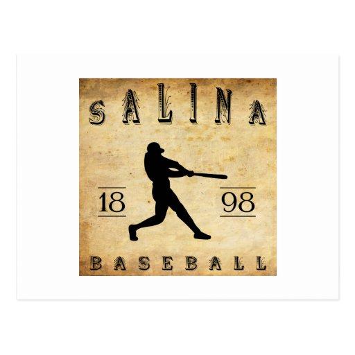 Béisbol 1898 de Kansas de la salina Tarjetas Postales