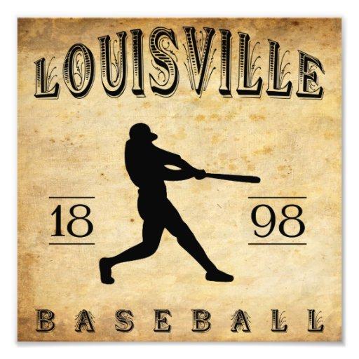 Béisbol 1898 de Louisville Colorado Arte Fotográfico