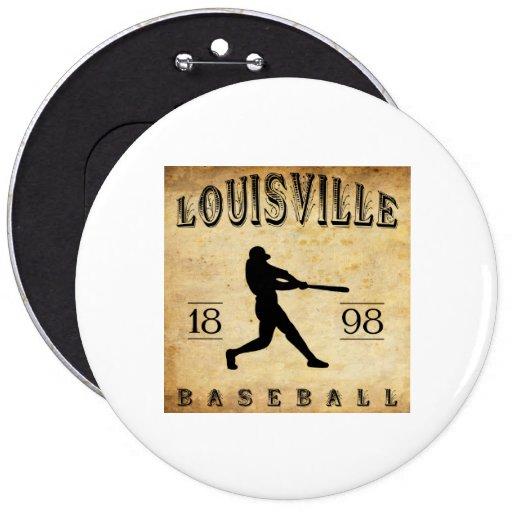 Béisbol 1898 de Louisville Colorado Pin Redondo 15 Cm