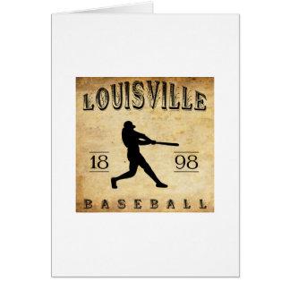 Béisbol 1898 de Louisville Colorado Tarjeta Pequeña