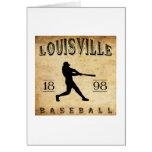 Béisbol 1898 de Louisville Colorado Tarjetón