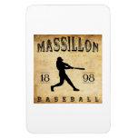 Béisbol 1898 de Massillon Ohio Imanes Flexibles