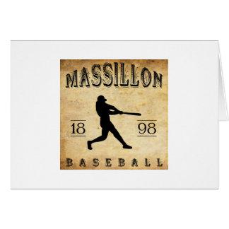 Béisbol 1898 de Massillon Ohio Tarjeta Pequeña