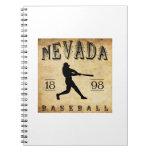 Béisbol 1898 de Nevada Missouri Libros De Apuntes Con Espiral