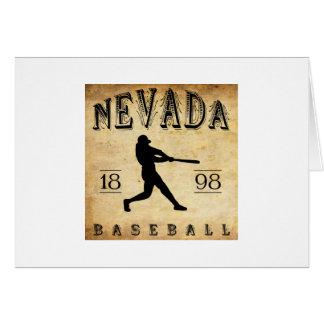 Béisbol 1898 de Nevada Missouri Tarjeta Pequeña