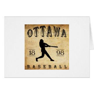 Béisbol 1898 de Ottawa Ontario Canadá Tarjeta Pequeña