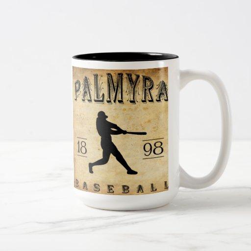 Béisbol 1898 de Pennsylvania del Palmyra Tazas De Café