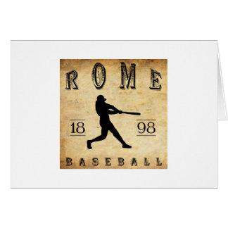 Béisbol 1898 de Roma Nueva York Tarjeta Pequeña