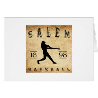 Béisbol 1898 de Salem Ohio Tarjeta Pequeña