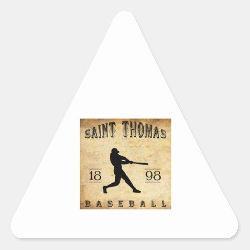 Béisbol 1898 de Santo Tomás Ontario Canadá Pegatina Triangular