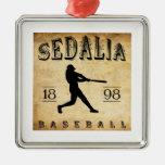 Béisbol 1898 de Sedalia Missouri Adornos De Navidad
