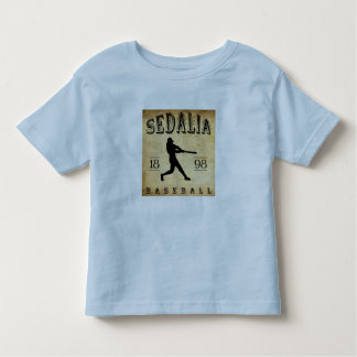 Béisbol 1898 de Sedalia Missouri Playera