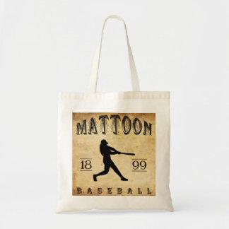 Béisbol 1899 de Mattoon Illinois Bolsa Tela Barata
