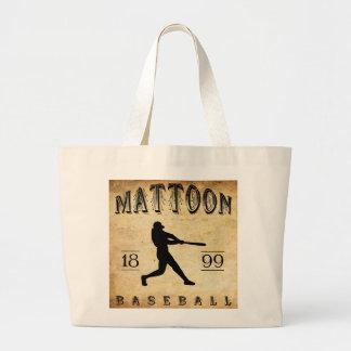 Béisbol 1899 de Mattoon Illinois Bolsa Tela Grande