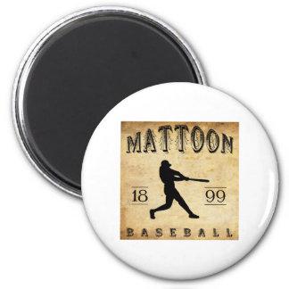 Béisbol 1899 de Mattoon Illinois Imán Redondo 5 Cm