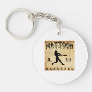Béisbol 1899 de Mattoon Illinois Llavero Redondo Acrílico A Doble Cara