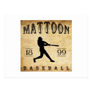 Béisbol 1899 de Mattoon Illinois Tarjetas Postales