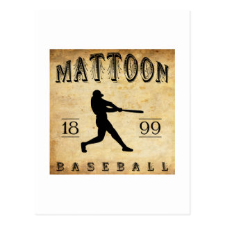 Béisbol 1899 de Mattoon Illinois Postales