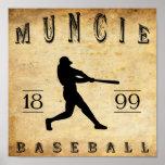 Béisbol 1899 de Muncie Indiana Poster