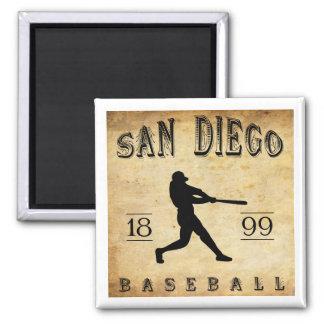 Béisbol 1899 de San Diego California Imán Cuadrado
