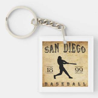 Béisbol 1899 de San Diego California Llavero Cuadrado Acrílico A Una Cara