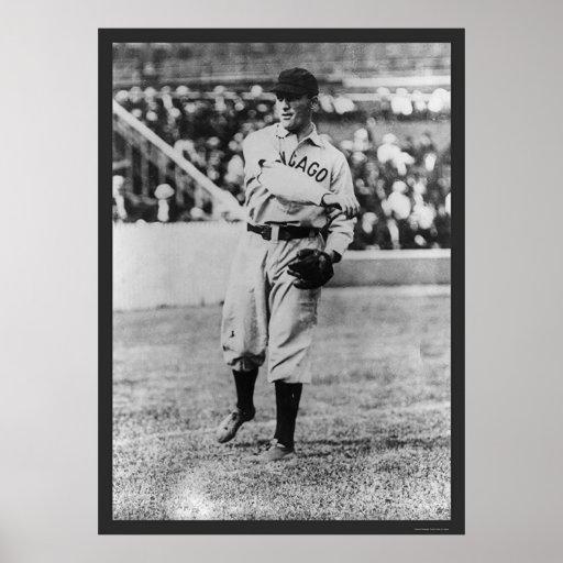 Béisbol 1907 de Cubs del chapucero de Joe Poster