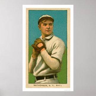 Béisbol 1909 de Christy Mathewson Póster
