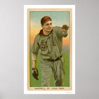 Béisbol 1909 de Rube Waddell Poster