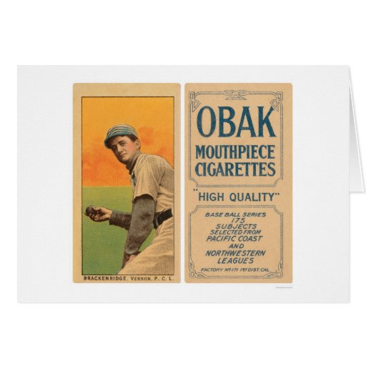 Béisbol 1910 de Brackenridge Vernon Tarjeta De Felicitación
