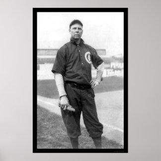 Béisbol 1910 de Brown Cubs de tres dedos Póster