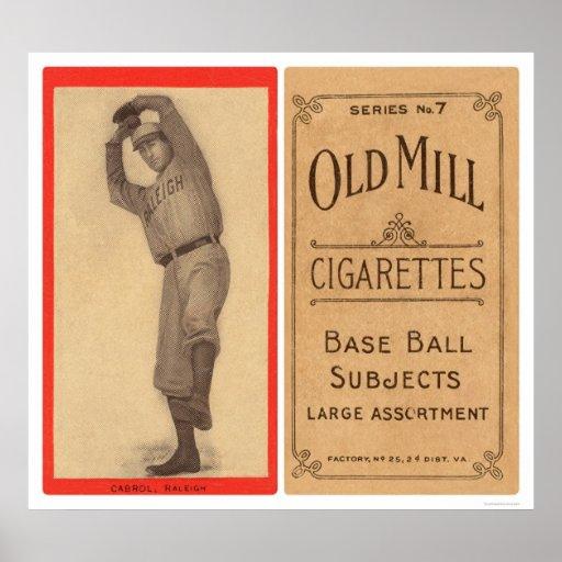 Béisbol 1910 de Cabrol Raleigh Poster