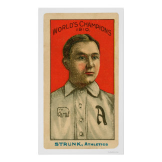 Béisbol 1910 de los Amos Strunk Posters