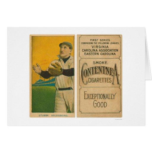 Béisbol 1910 de Stubbe Goldsboro Tarjeton