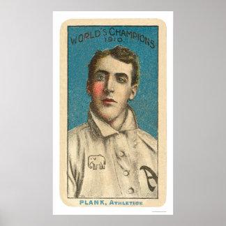 Béisbol 1910 del tablón de Eddie Póster