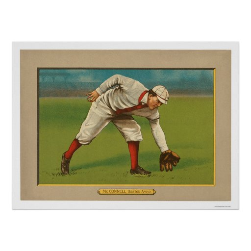 Béisbol 1911 de Amby McConnell Red Sox Posters