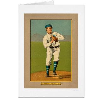 Béisbol 1911 de Bill Bergen Dodgers Tarjeta De Felicitación