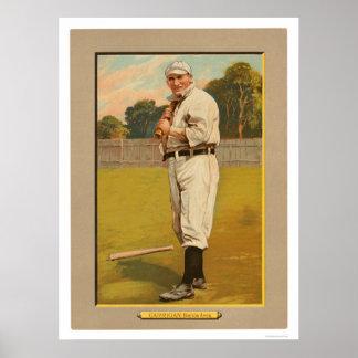 Béisbol 1911 de Bill Carrigan Red Sox Póster