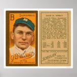 Béisbol 1911 de Brooklyn Superbas del trigo de Zac Posters