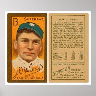 Béisbol 1911 de Brooklyn Superbas del trigo de Zac Póster