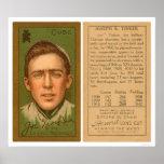 Béisbol 1911 de Cubs del chapucero de Joe Poster